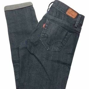 Levi's Sun Set Jeans Blue Dark Wash Cuffed Size 2